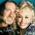 WILLIE NELSON & DOLLY PARTON SIGNED PHOTO 8X10 RP AUTOGRAPHED