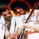 FREDDIE MERCURY & BRIAN MAY SIGNED PHOTO 8X10 RP AUTOGRAPHED QUEEN BAND