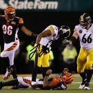 """JUJU SMITH SCHUSTER SIGNED PHOTO 8X10 RP AUTOGRAPHED STEELERS """" THE HIT """""""