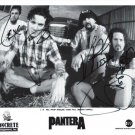 PANTERA BAND SIGNED PHOTO 8X10 RP AUTOGRAPHED DIMEBAG DARRELL