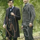 DAVID TENNANT & MATT SMITH SIGNED PHOTO 8X10 RP AUTOGRAPHED DOCTOR WHO