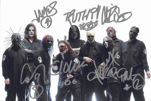 SLIPKNOT FULL BAND SIGNED PHOTO 8X10 RP AUTOGRAPHED ALL MEMBERS