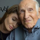 LOUIS ZAMPERINI & ANGELINA JOLIE SIGNED PHOTO 8X10 RP AUTOGRAPHED