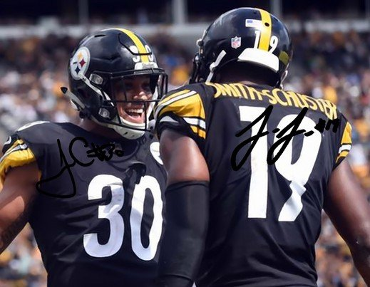 JAMES CONNER JUJU SMITH SCHUSTER SIGNED PHOTO 8X10 RP AUTOGRAPHED STEELERS
