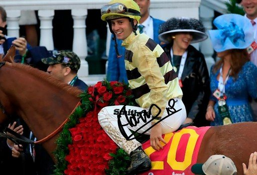 FLAVIEN PRAT SIGNED PHOTO 8X10 RP AUTOGRAPHED KENTUCKY DERBY COUNTRY HOUSE
