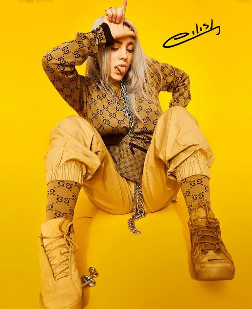 BILLIE EILISH SIGNED POSTER PHOTO 8X10 RP HOODIE AUTOGRAPHED