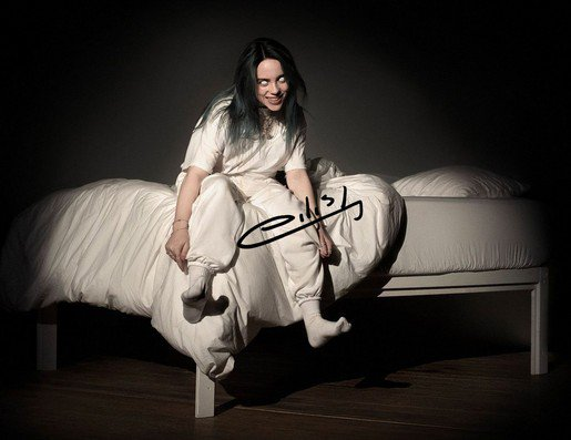 BILLIE EILISH SIGNED POSTER PHOTO 8X10 RP HOODIE AUTOGRAPHED **