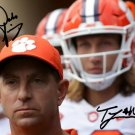 TREVOR LAWRENCE & DABO SWINNEY SIGNED PHOTO 8X10 RP AUTOGRAPHED CLEMSON TIGERS FOOTBALL