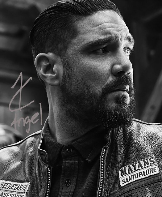 CLAYTON CARDENAS SIGNED PHOTO 8X10 RP AUTOGRAPHED MAYANS MC ANGEL