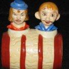 Double Eye Couple n Barrel Nodders Salt & Pepper Shakers