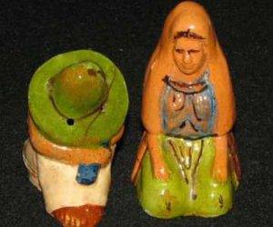 Mexican Folk Art Couple Salt & Pepper Shakers