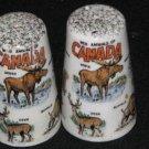 Wild Animals of Canada Souvenir Salt & Pepper Shakers