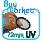 SALE NEW 72mm UV filter for Nikon Canon Sony lens 72 mm