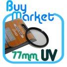 SALE NEW 77mm UV filter for Nikon Canon Sony lens 77 mm