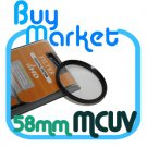 NEW 58mm MC UV Filter MCUV Multi coated for DSLR DC Lens Canon Nikon Sony 58 mm