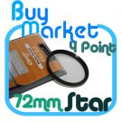 NEW 72mm Star Effect Filter Cross 4 Point 4pt for Lens