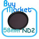 NEW 58mm ND2 Filter Neutral Density ND 2 for DSLR DC Camera Lens