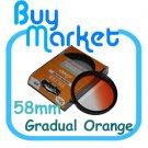 NEW 58mm Graduated Gradual Orange Color filter for DSLR lens