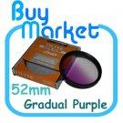 NEW 52mm Graduated Gradual Pruple Color filter for DSLR lens
