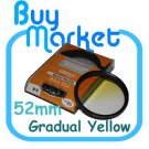 NEW 52mm Graduated Gradual Yellow Color filter for DSLR lens
