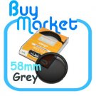 NEW 58mm Full GREY Color Effect filter for DSLR DC lens Nikon Canon Sony 58 mm