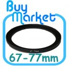 Adapter Filter Lens Step Up Ring 67-77mm 67mm to 77mm