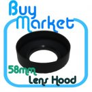 New 58mm Collapsible 3-in-1 Rubber Lens Hood for 58 mm