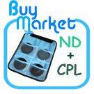 NEW 62mm ND2 + ND4  +ND8 + CPL Circular Polarizing Filter ND Kit Set with FREE CASE (***Free RA)