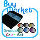 58mm Graduated Blue,Orange,Grey,Green,Purple,Yellow 6 color Filter Set +CASE (***Free RA)