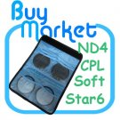 New 62mm ND4+Star 6+Soft+CPL Filter ND Kit Set with CASE for DSLR Camera Lens (***Free RA)