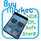 New 62mm ND48+Star 8+Soft+CPL Filter ND Kit Set with CASE for DSLR Camera Lens (***Free RA)