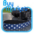 DSLR Canon Nikon Camera Color BLUE STAR Shoulder Neck Belt Strap Grip Straps #26