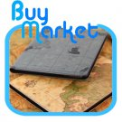 Grey World Map Leather Case Portfolio Cover w Stand for Apple iPad3 the new iPad