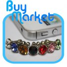 7x Diamond Anti Dust 3.5mm Earphone Jack Plug Stopper f/ iPhone 4 4S iPad Galaxy