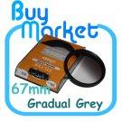 SALE 67mm Graduated Gradual Grey Color filter for DSLR camera