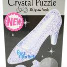 DIY 3D Crystal Puzzle Jigsaw 44 pieces Toy Model Decoration - Purple High Shoe