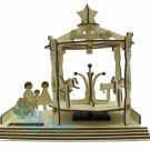DIY Wooden CAROUSEL Solar Powered model Educational toys figure Construction Set