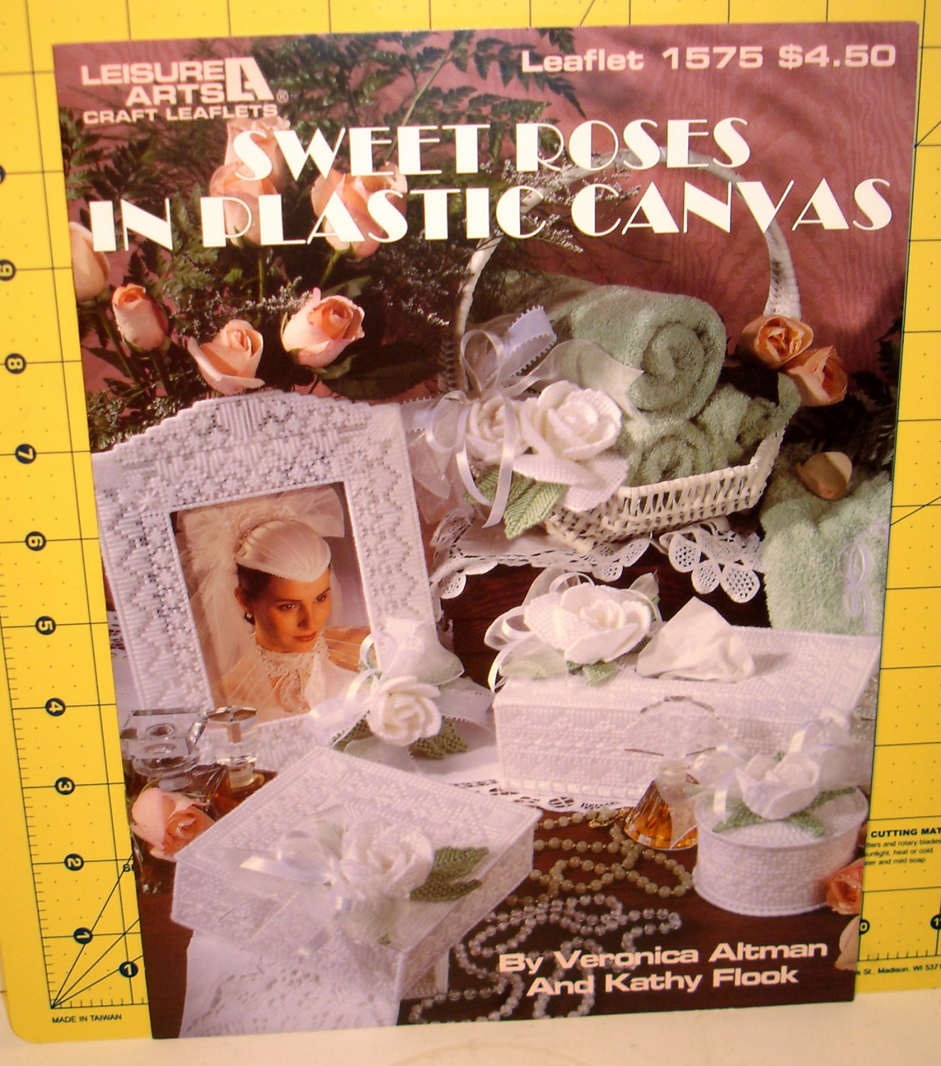 SWEET ROSES IN PLASTIC CANVAS-1994--NO. 1575 LEAFLET-8 PAGES