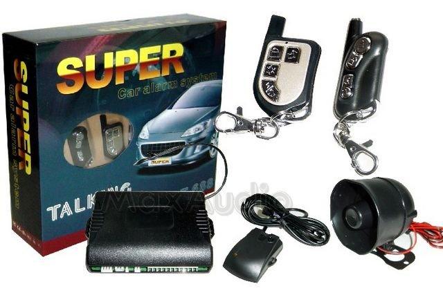SUPER T-688 Voice Alert Talking Car Alarm System