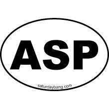 ASP Mini Euro Style Oval Sticker