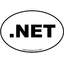 .NET Mini Euro Style Oval Sticker