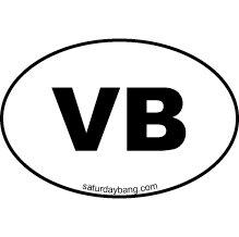 Visual Basic Mini Euro Style Oval Sticker (VB)