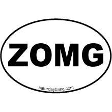 ZOMG Mini Euro Style Oval Sticker
