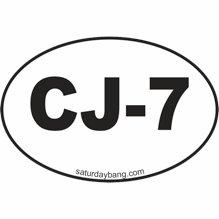CJ-7 Mini Euro Style Oval Sticker