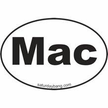 Mac Mini Euro Style Oval Sticker