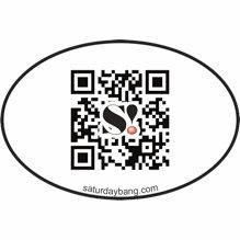QR Code Mini Euro Style Oval Sticker
