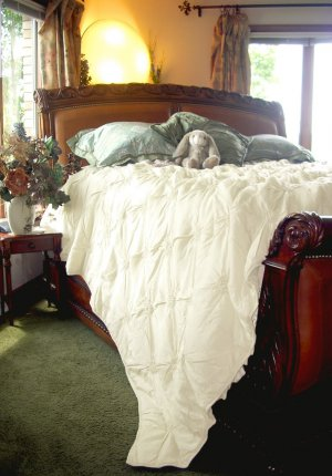 SOFT SURROUNDINGS LOMBARDI SMOCKED COVERLET IVORY QUEEN