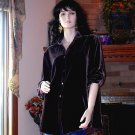NWT SOFT SURROUNDINGS SILK VELVET BOYFRIEND SHIRT Brown  XS T