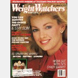 WEIGHT WATCHERS December 1983 magazine CYNDY GARVEY workout LINDA ZIMBELMAN