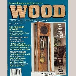 WOOD April 1988 No 22 Magazine SOUTHWEST ONLAY VASE Timber-Framing OAK HERRINGBONE TABLE Teak